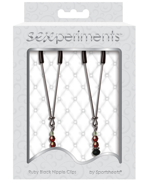 Sexperiment Ruby Blk Nipple Clamps